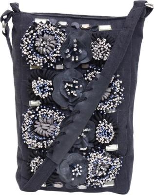 Jademist Women Black Cotton Sling Bag