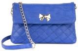Kleio Women Blue PU Sling Bag