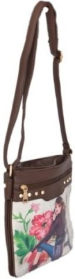 Shopaholic Fashion Girls Brown PU Sling Bag