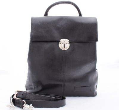 Delphi Leather Girls Black Genuine Leather Sling Bag