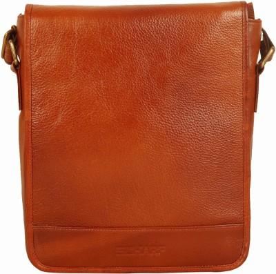 Scharf Men Tan Genuine Leather Sling Bag
