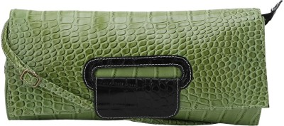 Leora Women Green PU Sling Bag