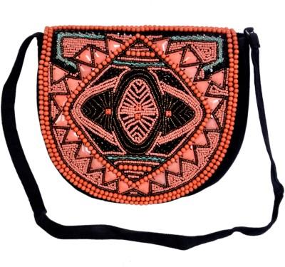 Diwaah Women Black Cotton Sling Bag