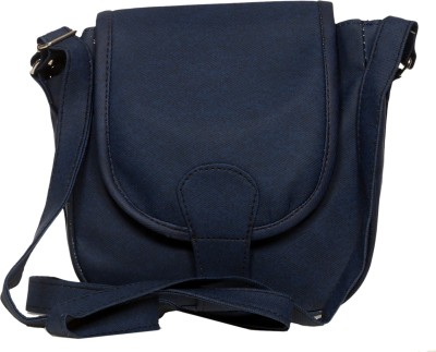 Flamboyance Women, Girls Casual, Evening/Party Blue Leatherette Sling Bag