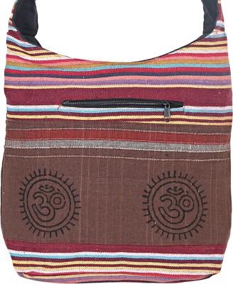 Jaipuri Haat Girls Brown Cotton Sling Bag