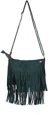 Glitter Glory Girls Green PU Sling Bag