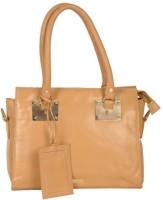 Attachover Services Women Gold Genuine Leather Shoulder Bag