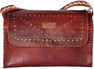 Goatter Girls, Women Red Genuine Leather Shoulder Bag
