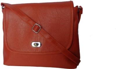 Good Life Stuff Women Orange Leatherette Sling Bag