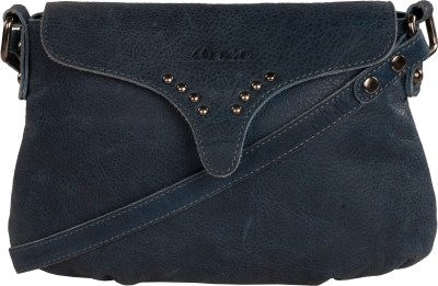 WeMe Women Blue Genuine Leather Sling Bag