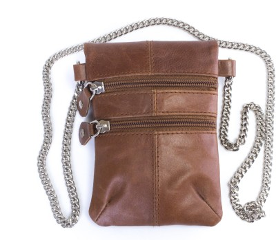 Tee Ess Girls, Women Evening/Party, Casual Tan Genuine Leather Sling Bag