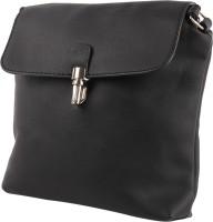Tamirha Women Black Rexine Sling Bag