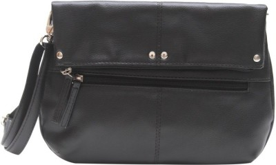 The Parallels Girls, Women Casual, Formal Black PU Sling Bag