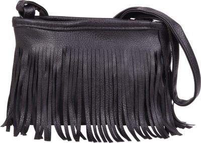 Styleburst Women Black PU Sling Bag
