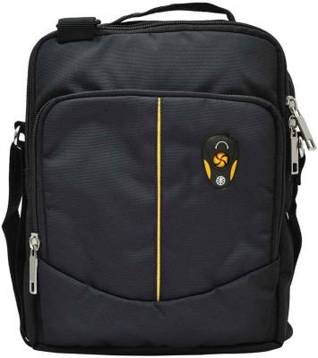 Hawai Men Black Polyester Sling Bag