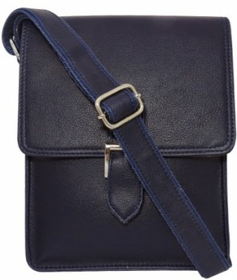 Chimera Leather Men, Women Casual, Formal Blue Leatherette Sling Bag