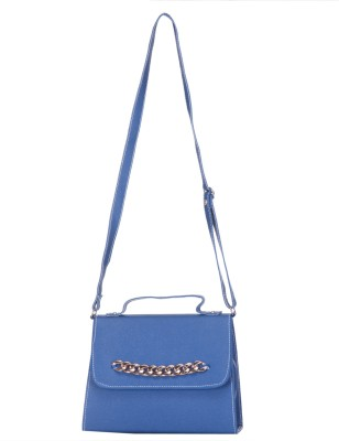 SkyWays Girls, Women Blue Leatherette Sling Bag