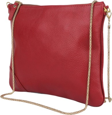 Incredible Range Women Red Genuine Leather Sling Bag