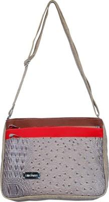 Kshipra Fashion Girls, Women Brown, Red, Grey Leatherette Sling Bag