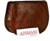 Adimani Women Brown Genuine Leather Slin...