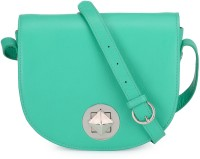 Phive Rivers Women Green Genuine Leather Sling Bag