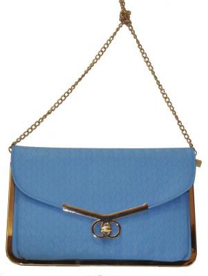 Women Trendz Women Blue Leatherette Sling Bag