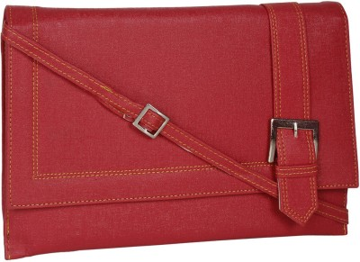 DnS Women, Girls Casual, Formal, Evening/Party Red Leatherette Sling Bag