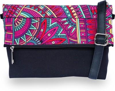 Lemon Trunk Women, Girls Multicolor, Black Canvas, PU Sling Bag
