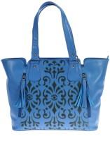 Khadim's Women Blue Leatherette Shoulder Bag