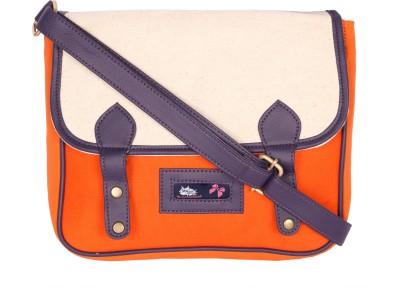 Kanvas Katha Girls, Women Orange Canvas Sling Bag