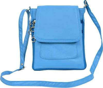 Apick Women Blue Rexine Sling Bag