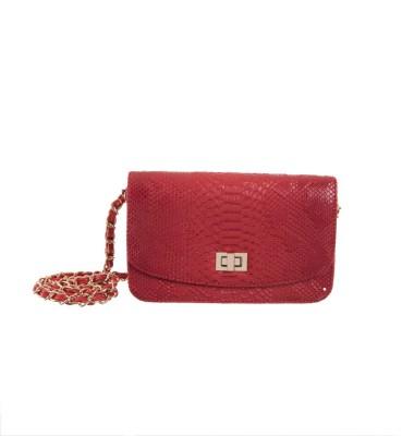 Peaubella Women, Girls Red PU Sling Bag