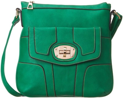 Cappuccino Women Casual Green Leatherette Sling Bag