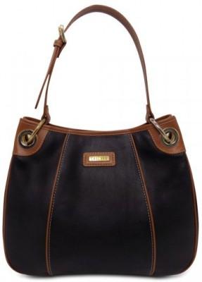 Cascara Women Black Genuine Leather Hobo