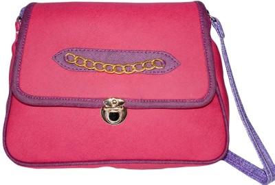 Prajo Women Pink PU Sling Bag