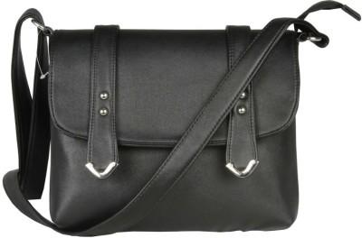 Via Harp Girls, Women Black Leatherette Sling Bag