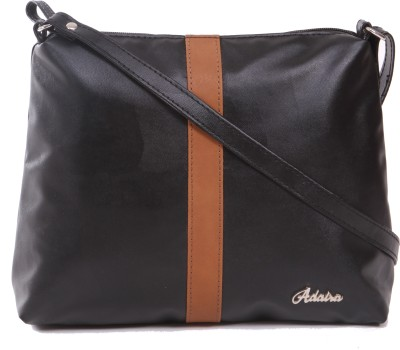 Adaira Girls Casual Black PU Sling Bag