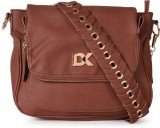 Diana Korr Women Brown PU Sling Bag