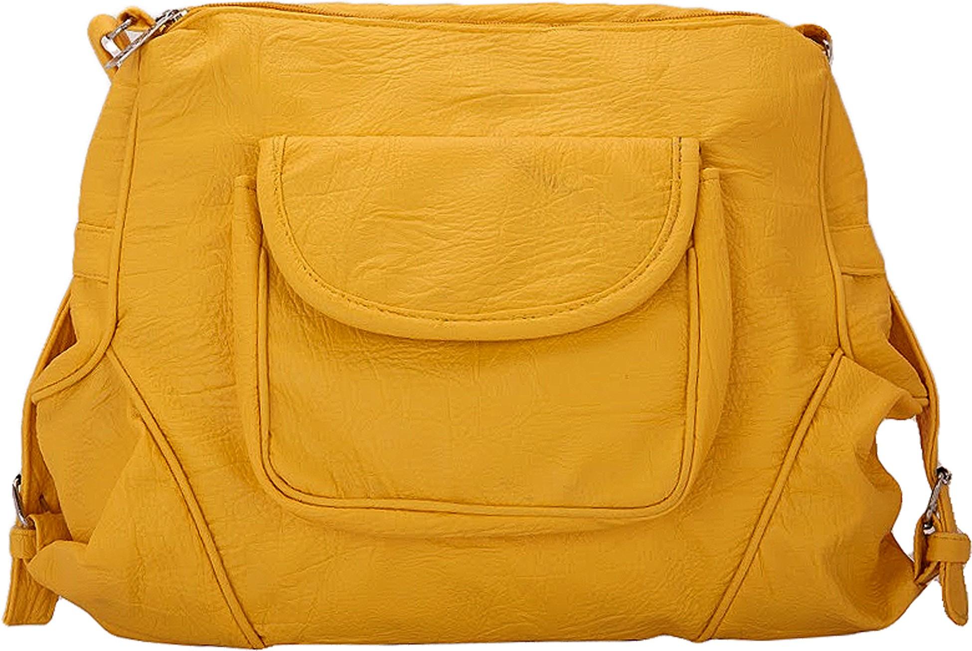 Sling bag below 500 - Borse Women Yellow Pu Sling Bag