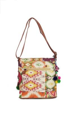 Jaipurtextileshub Women Multicolor Jute Sling Bag