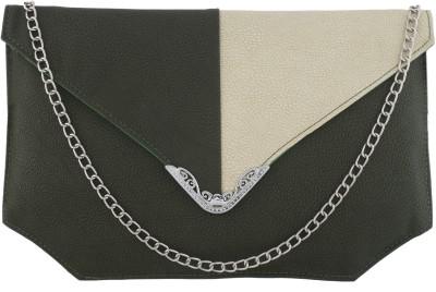 Fantosy Women Casual Green PU Sling Bag
