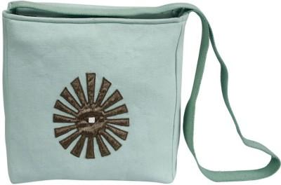 Needlecrest Men, Women Casual Green Canvas Sling Bag
