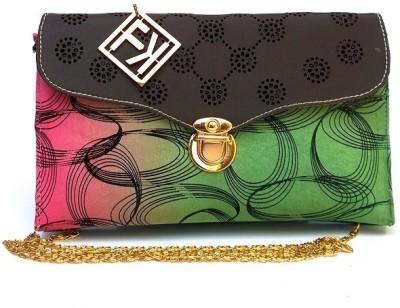 Fashion Knockout Girls, Women Black, Green Leatherette Sling Bag