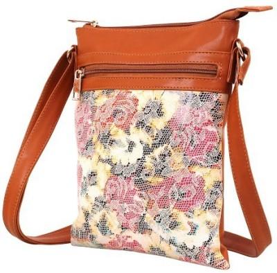 Ayeshu Women Brown Canvas Sling Bag