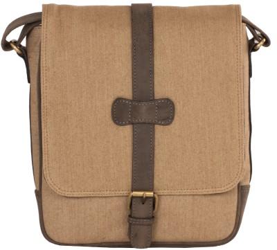 LeCobbs Men Casual Tan Denim Sling Bag