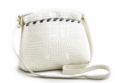 Voaka Women, Girls White Leatherette Sling Bag