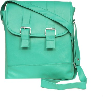 zasmina Girls, Women Blue, Green Leatherette, PU Sling Bag