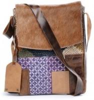 TWINOLOGY Women Black Cotton Sling Bag