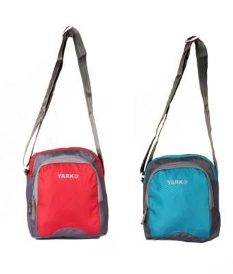 Yark Men Multicolor Polyester Sling Bag