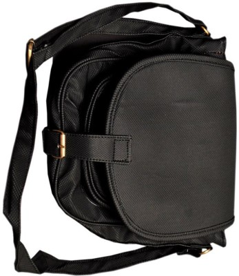 Cottage Men, Women Black Canvas Sling Bag